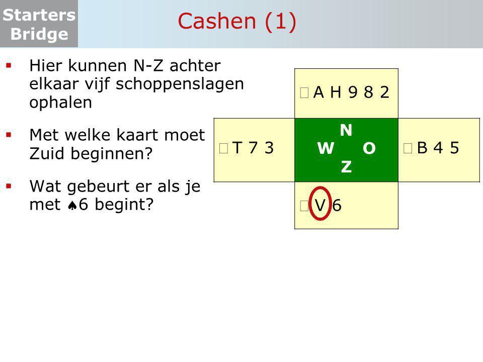 Cashen (1) Hier kunnen N-Z achter elkaar vijf schoppenslagen ophalen