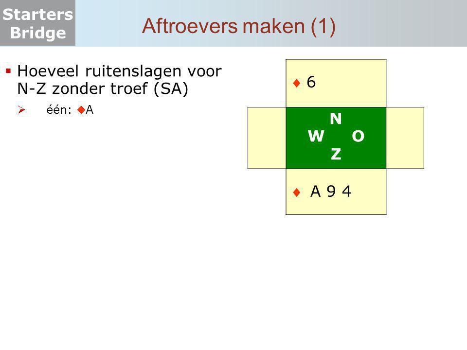 Aftroevers maken (1)  6 N W O Z