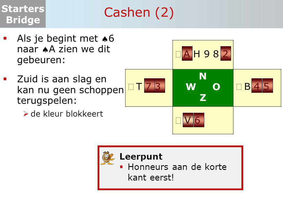 Cashen (2) Als je begint met 6 naar A zien we dit gebeuren: