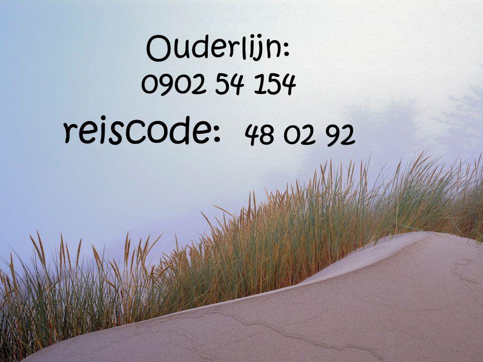 Ouderlijn: 0902 54 154 reiscode: 48 02 92