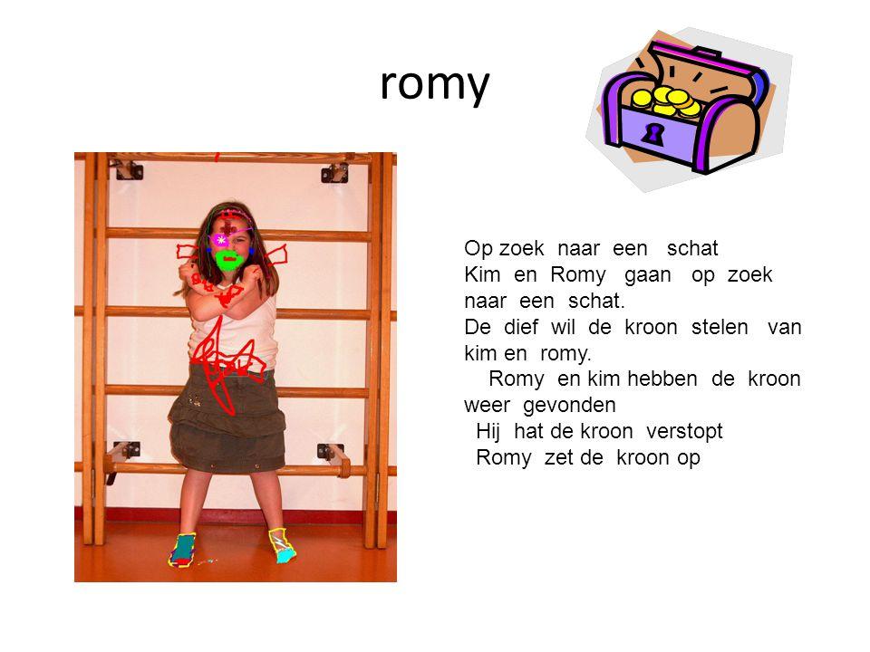 romy Op zoek naar een schat Kim en Romy gaan op zoek naar een schat.