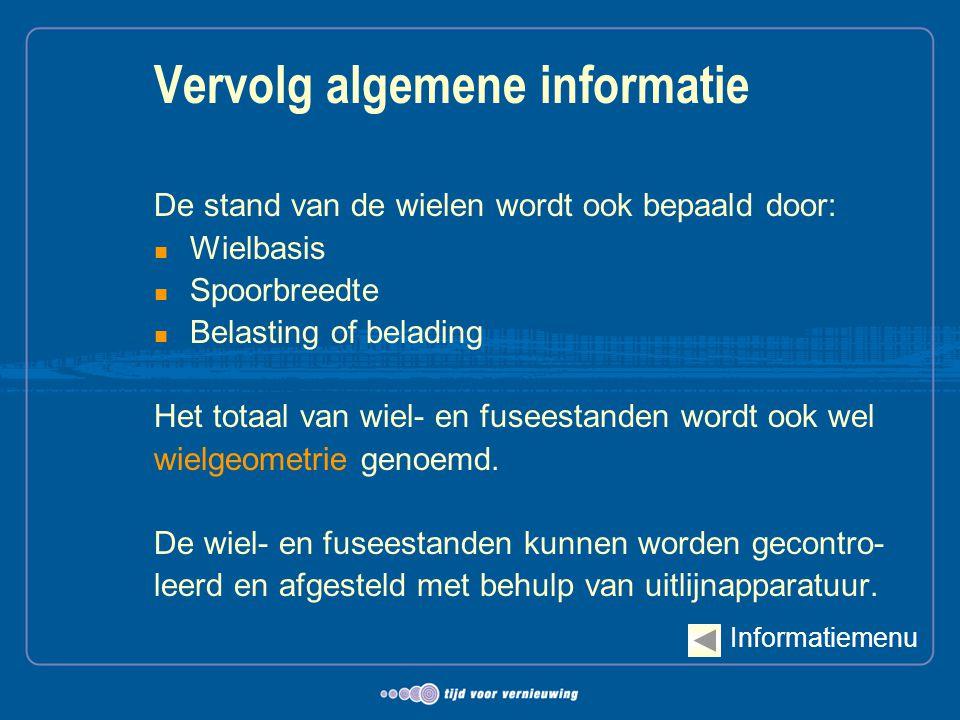 Vervolg algemene informatie