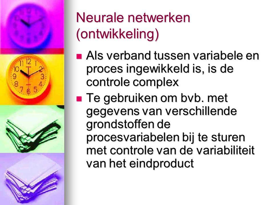 Neurale netwerken (ontwikkeling)
