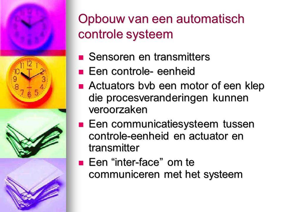 Opbouw van een automatisch controle systeem