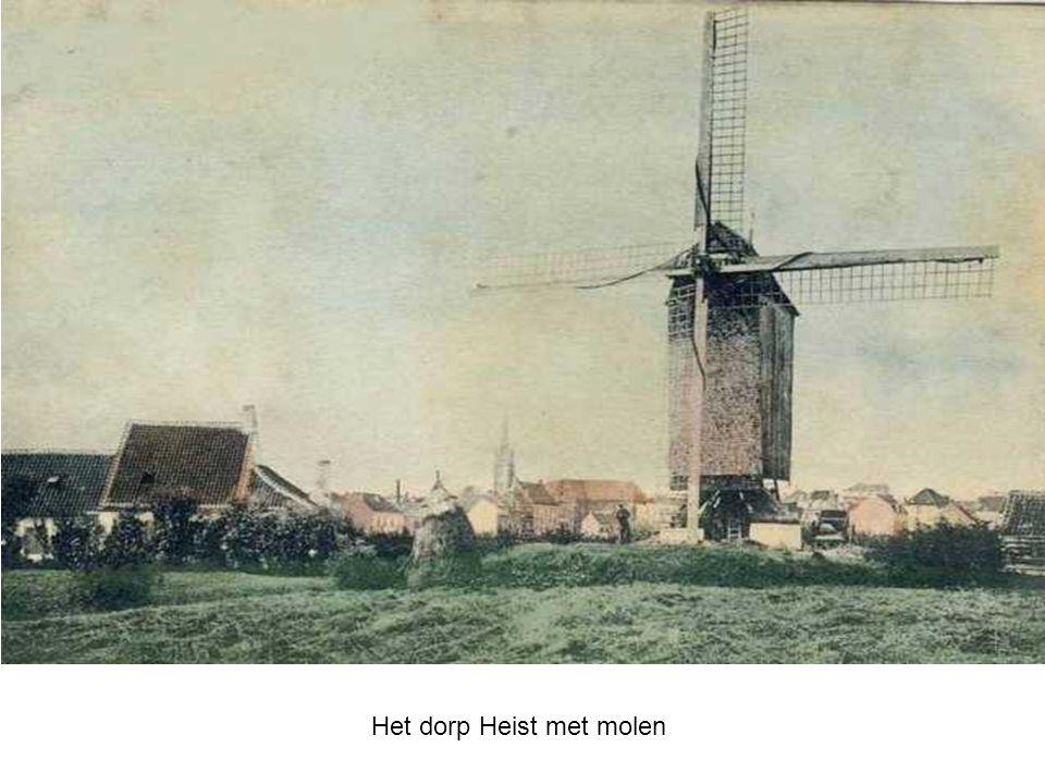 Het dorp Heist met molen