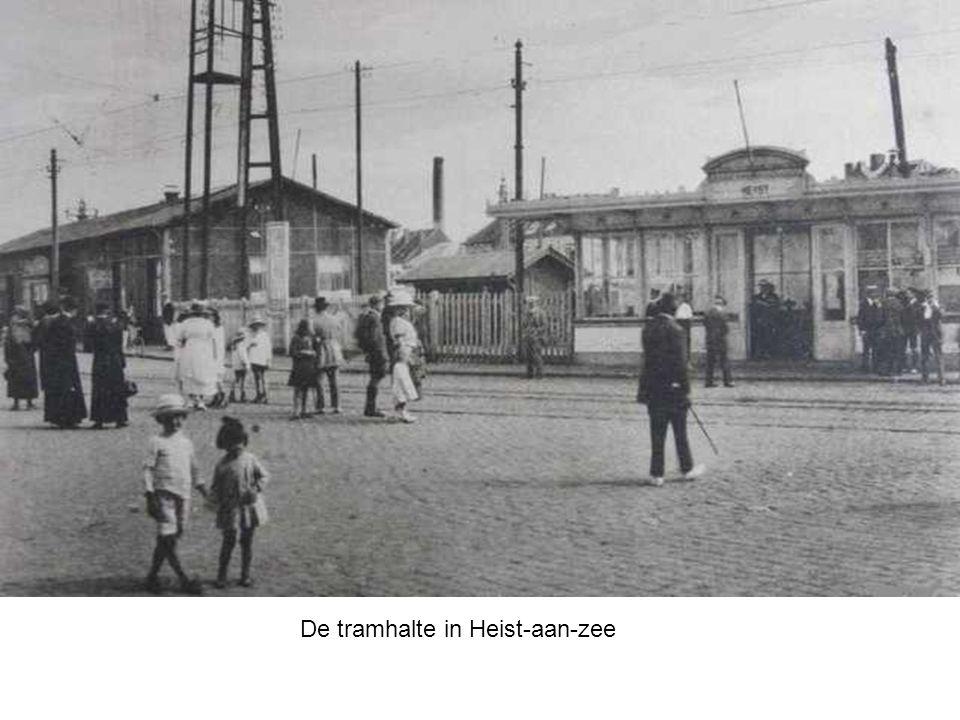 De tramhalte in Heist-aan-zee