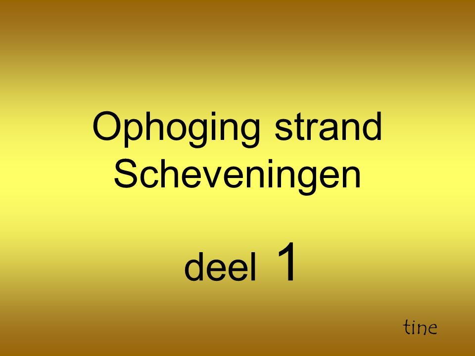 Ophoging strand Scheveningen