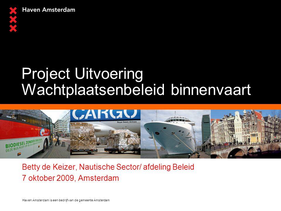 Project Uitvoering Wachtplaatsenbeleid binnenvaart