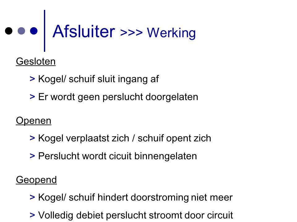 Afsluiter >>> Werking