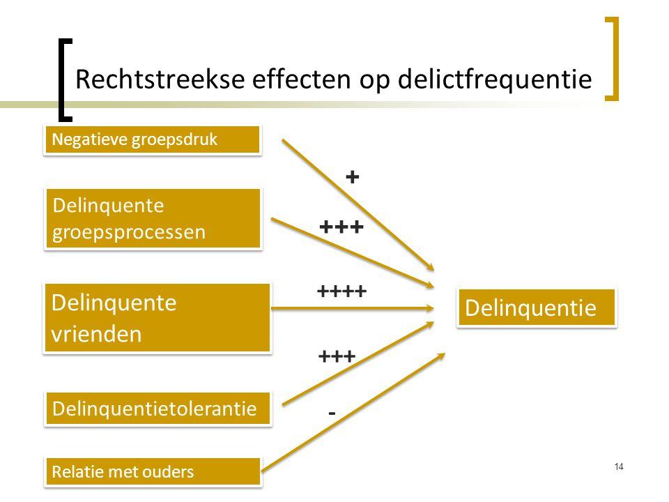Rechtstreekse effecten op delictfrequentie