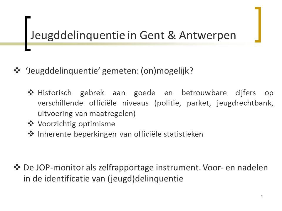 Jeugddelinquentie in Gent & Antwerpen
