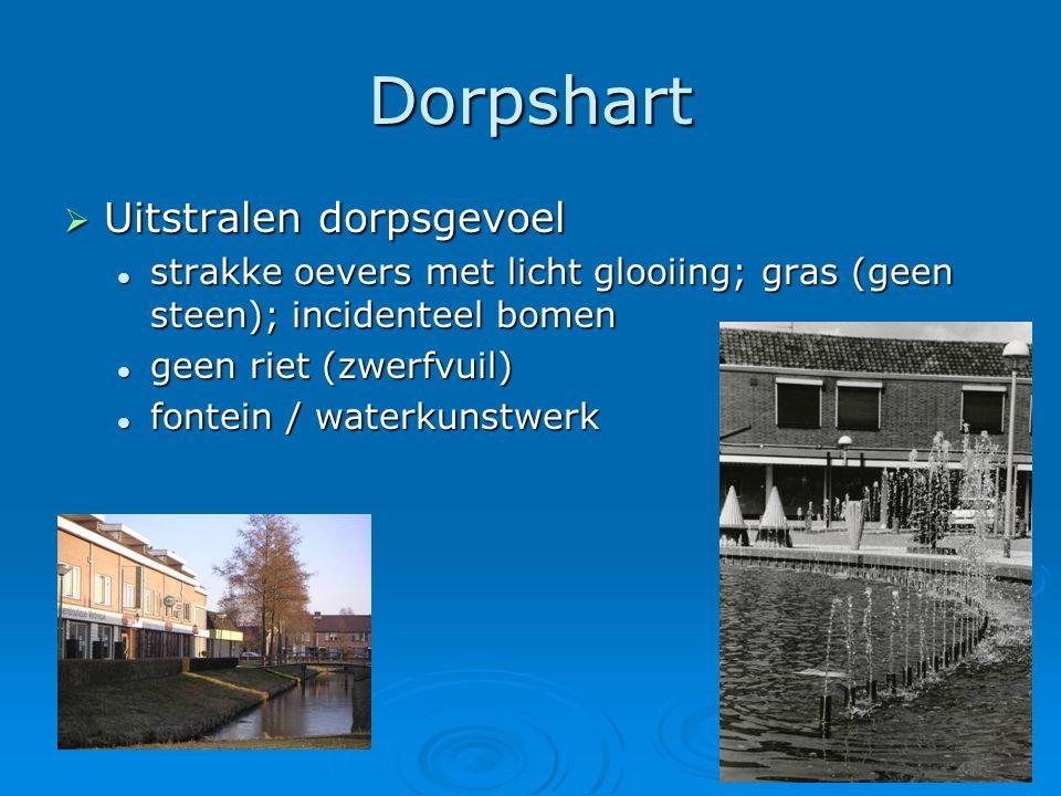 Dorpshart Uitstralen dorpsgevoel