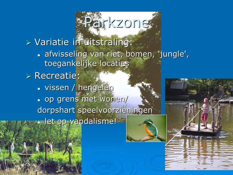 Parkzone Variatie in uitstraling: Recreatie: