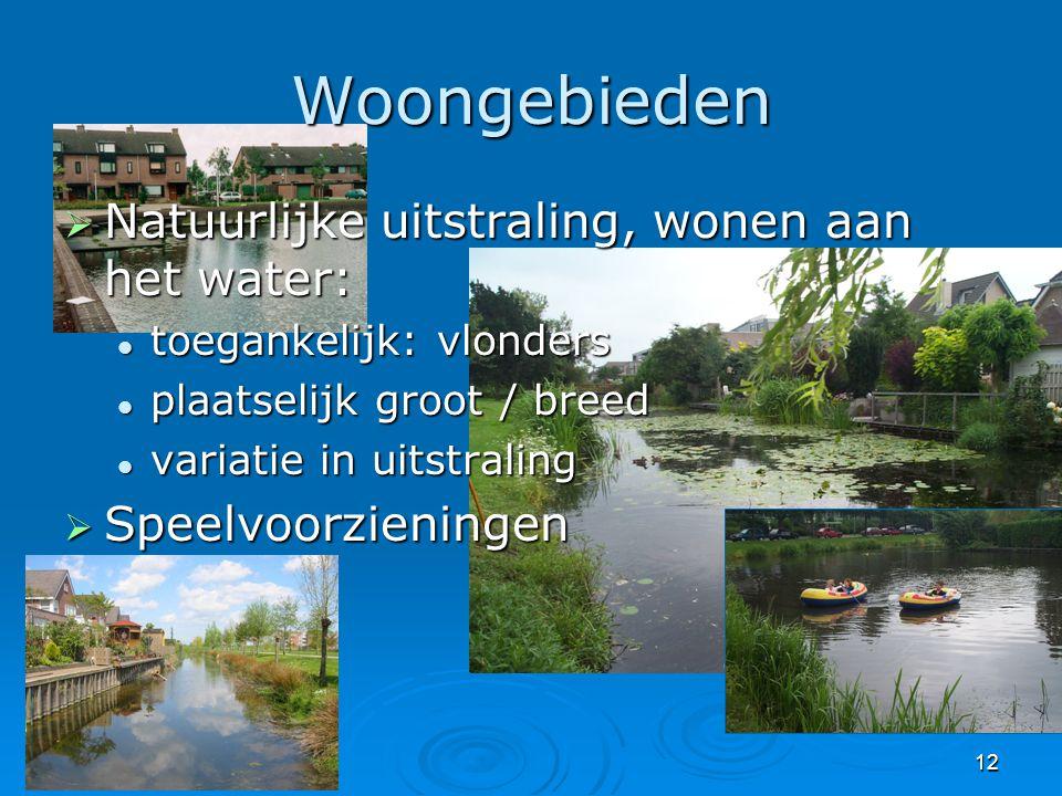 Woongebieden Natuurlijke uitstraling, wonen aan het water: