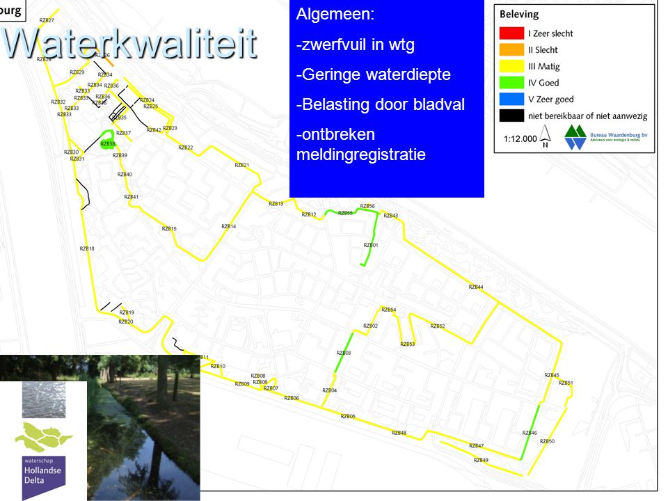 Waterkwaliteit Algemeen: zwerfvuil in wtg Geringe waterdiepte