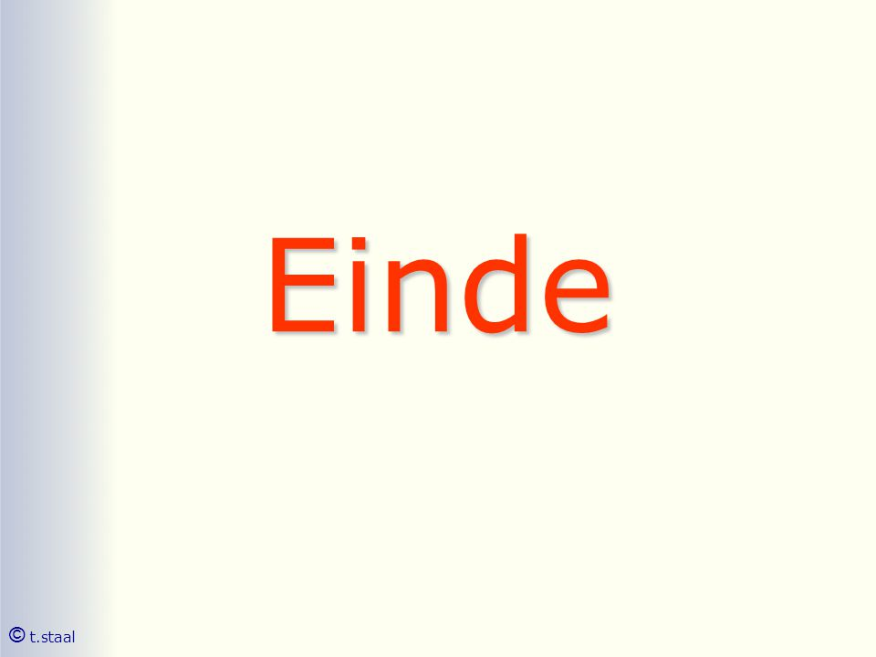 Einde © t.staal