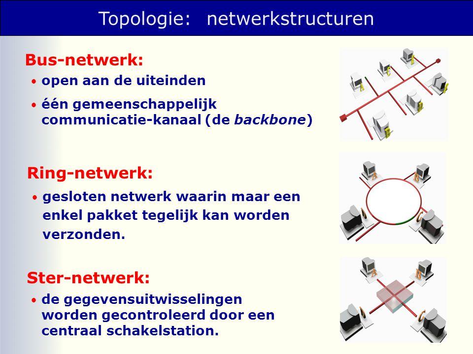 Topologie: netwerkstructuren