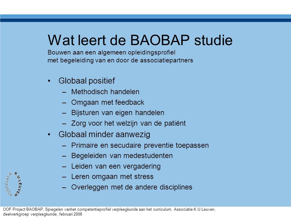 Wat leert de BAOBAP studie Bouwen aan een algemeen opleidingsprofiel met begeleiding van en door de associatiepartners