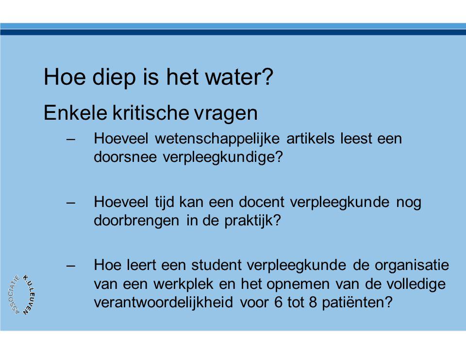 Hoe diep is het water Enkele kritische vragen