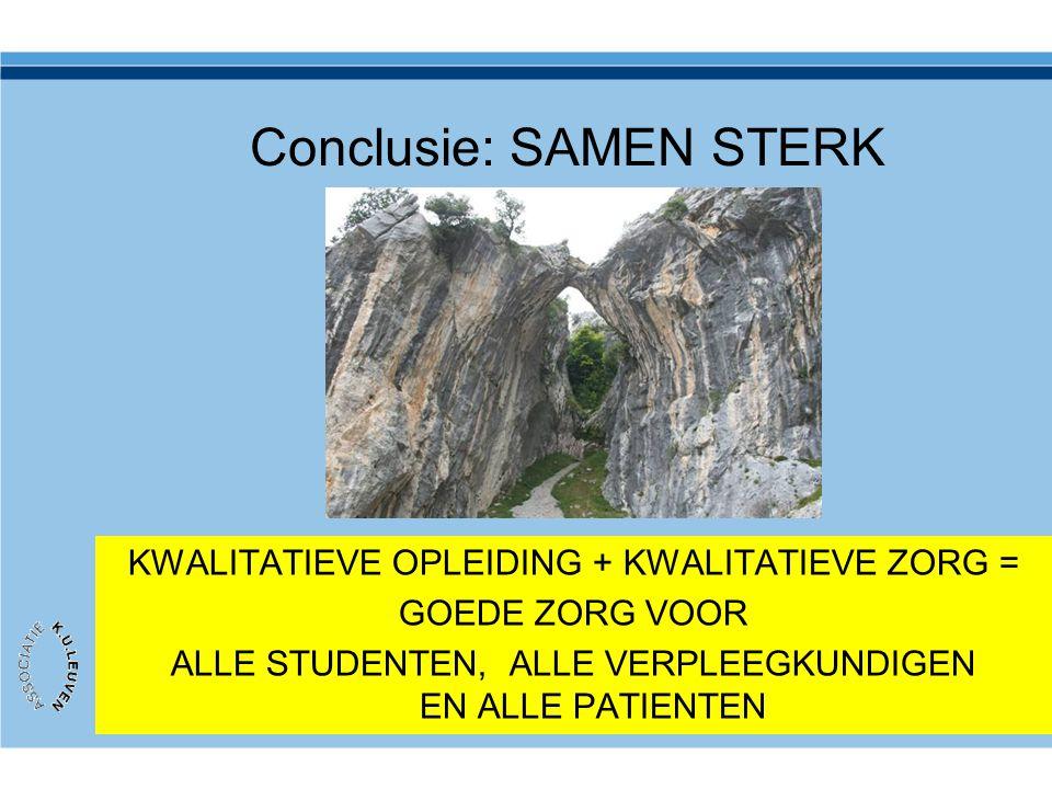 Conclusie: SAMEN STERK