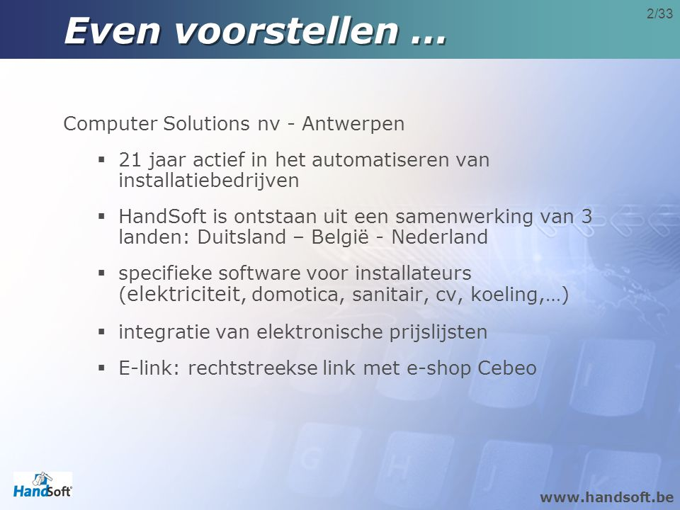 Even voorstellen … Computer Solutions nv - Antwerpen