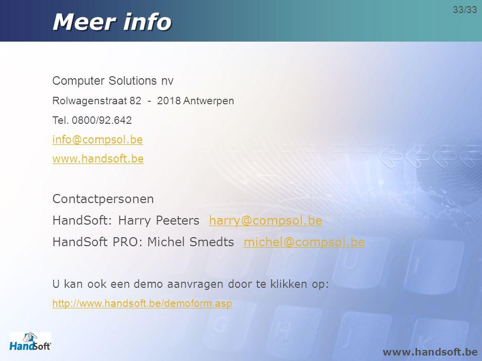 Meer info Computer Solutions nv Contactpersonen