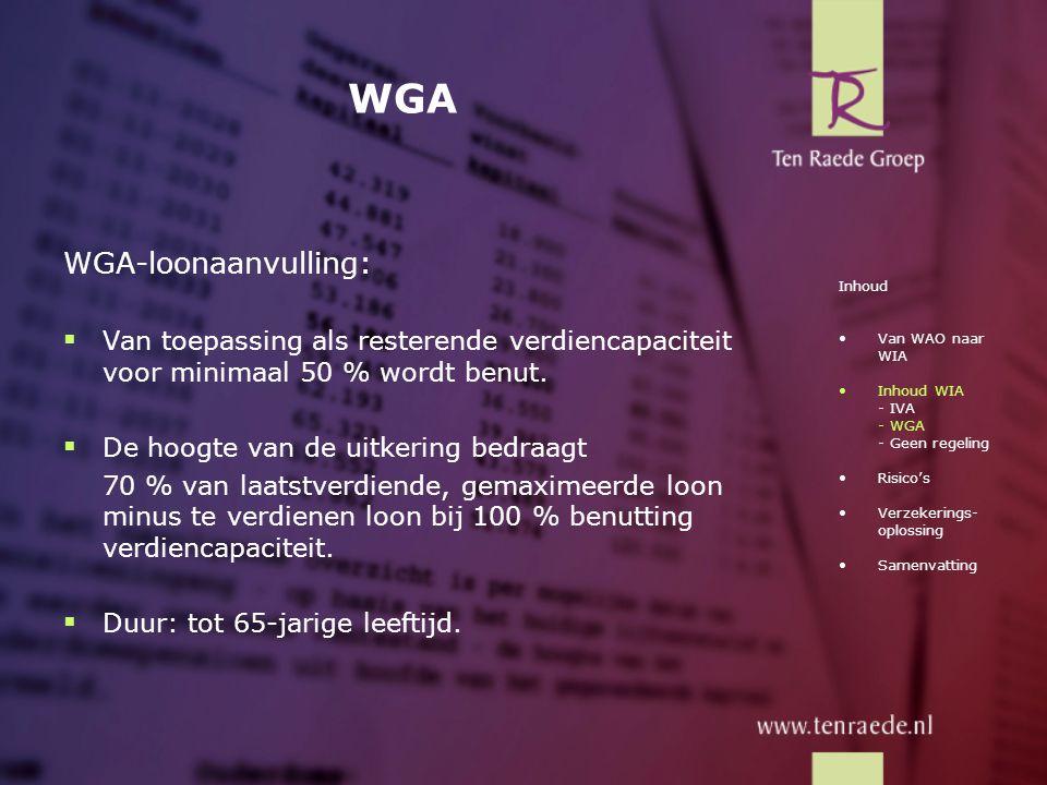 WGA WGA-loonaanvulling: