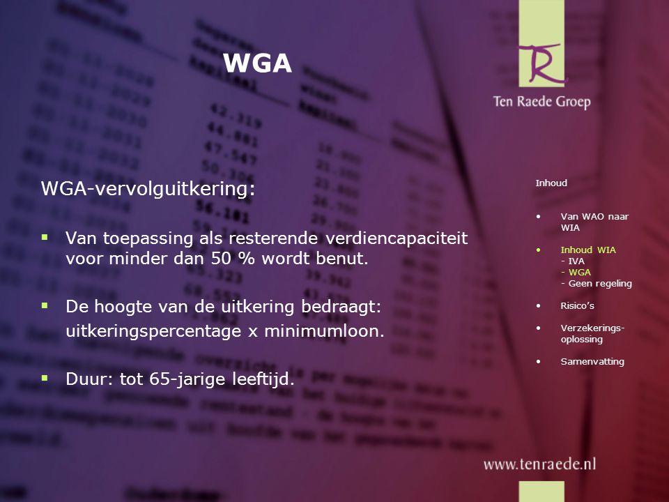 WGA WGA-vervolguitkering:
