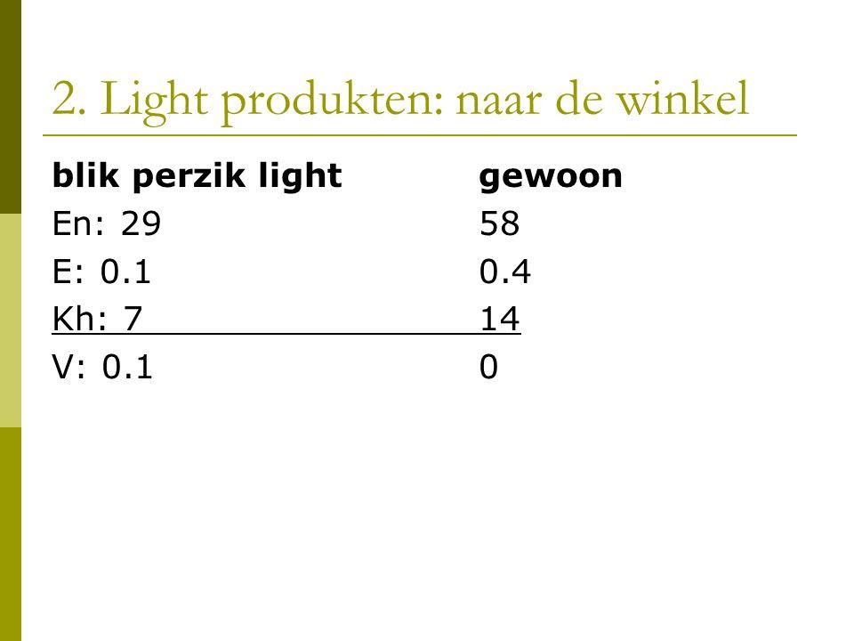 2. Light produkten: naar de winkel