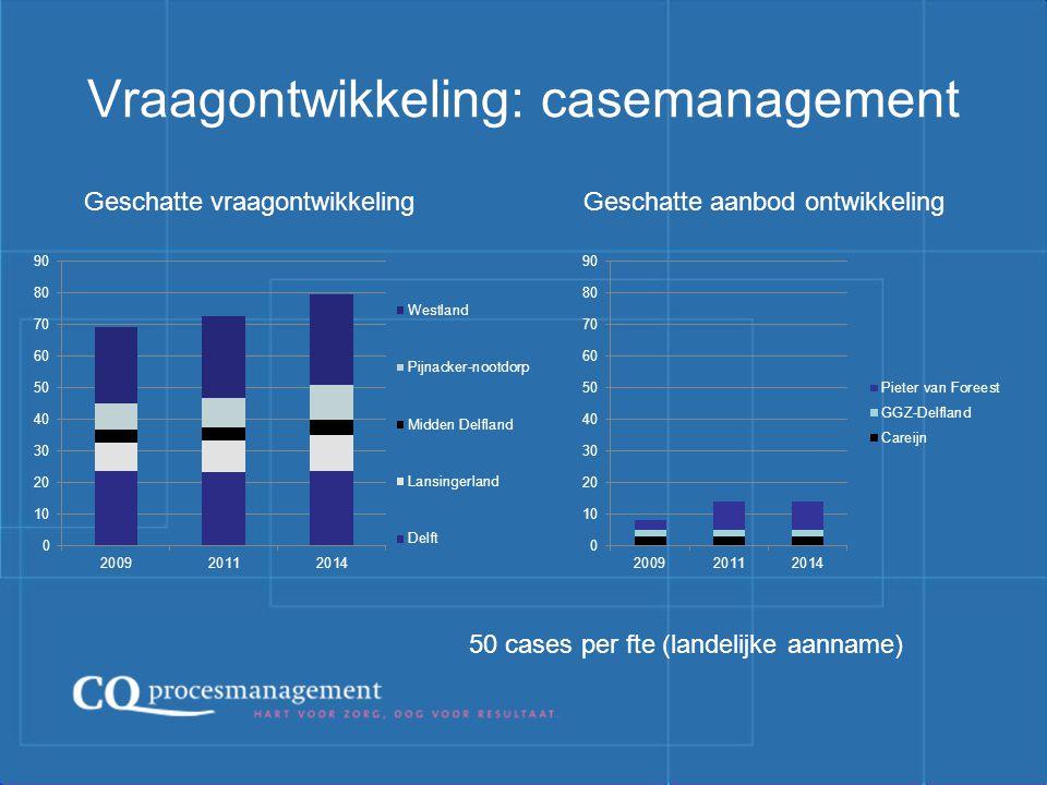Vraagontwikkeling: casemanagement