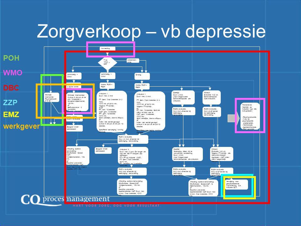 Zorgverkoop – vb depressie