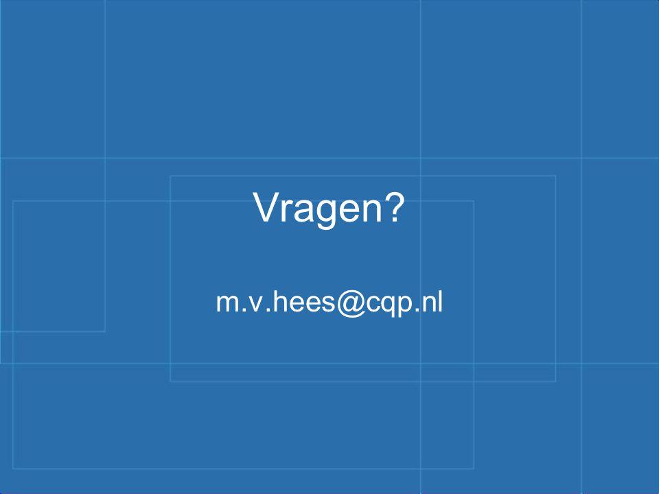 Vragen m.v.hees@cqp.nl