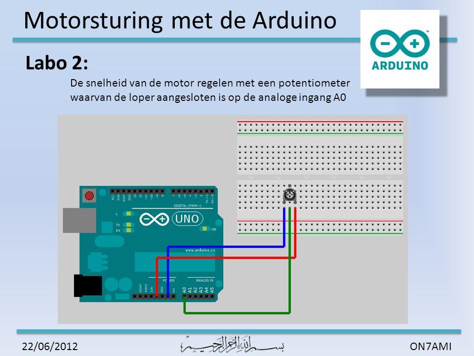 Motorsturing met de Arduino