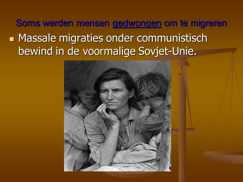 Soms werden mensen gedwongen om te migreren