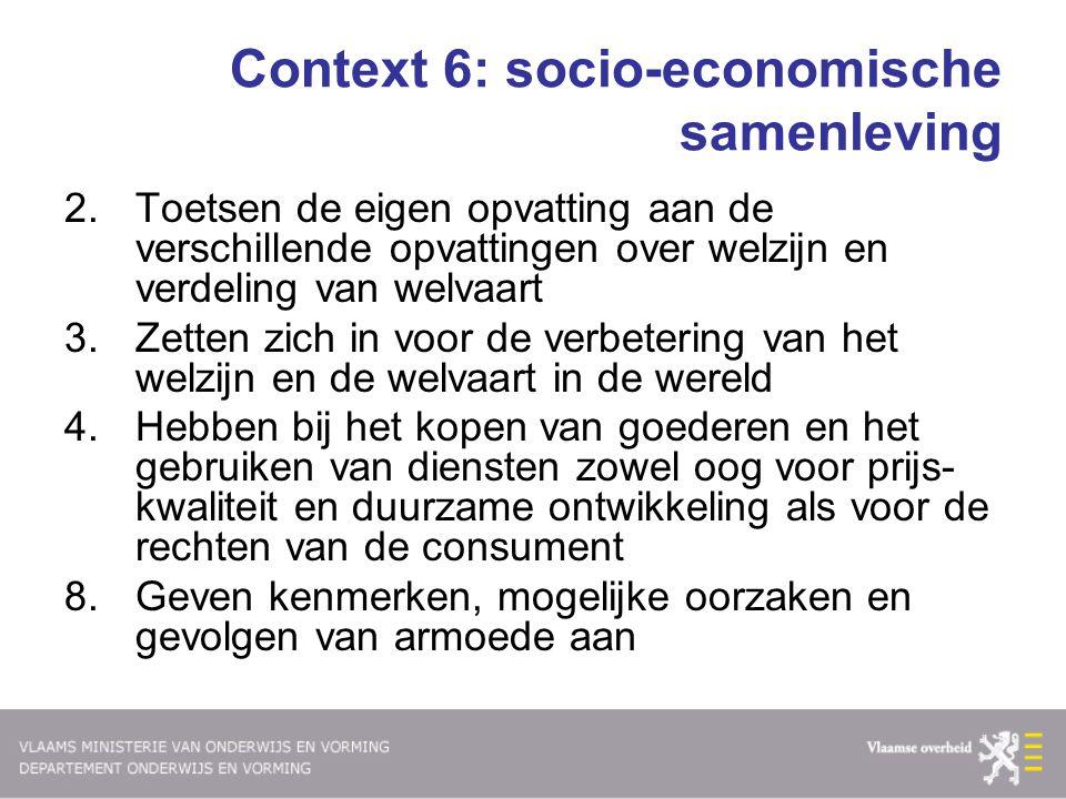 Context 6: socio-economische samenleving