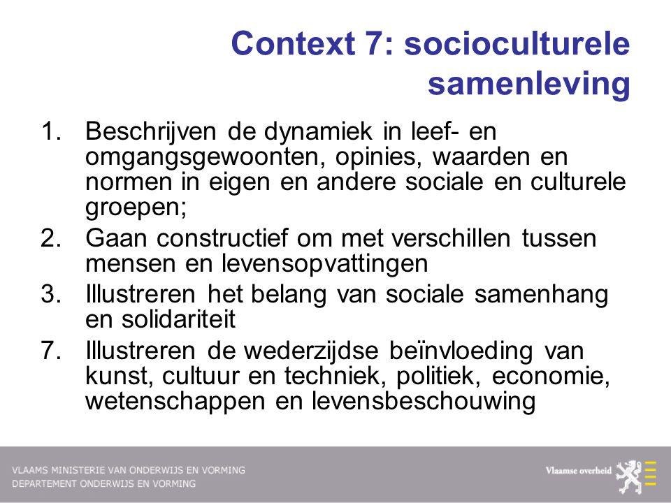 Context 7: socioculturele samenleving