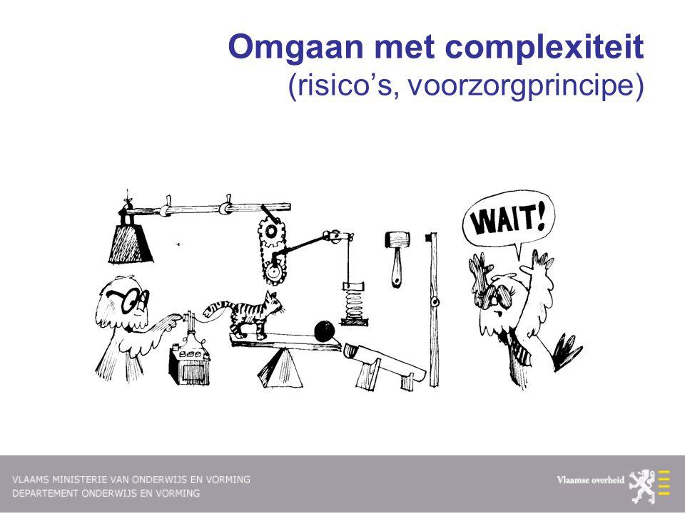 Omgaan met complexiteit (risico's, voorzorgprincipe)