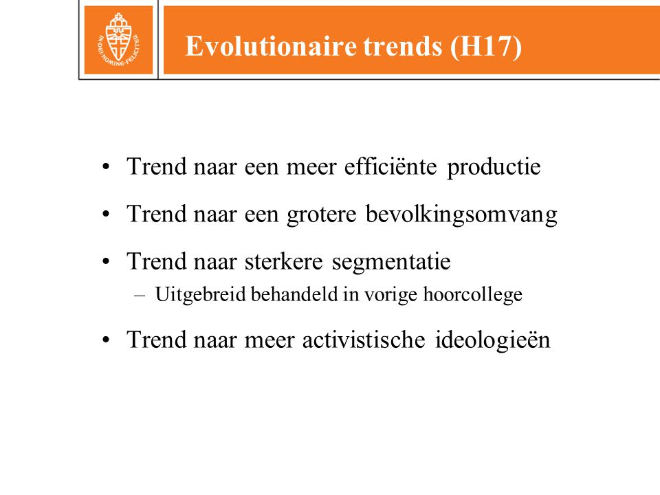 Evolutionaire trends (H17)
