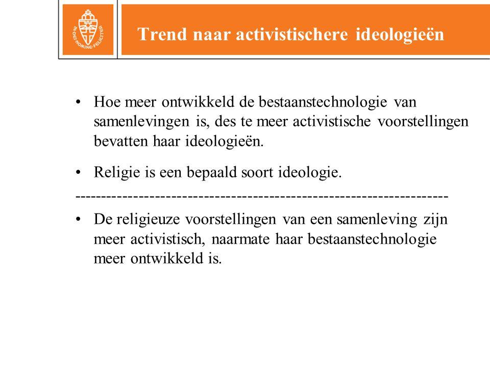 Trend naar activistischere ideologieën