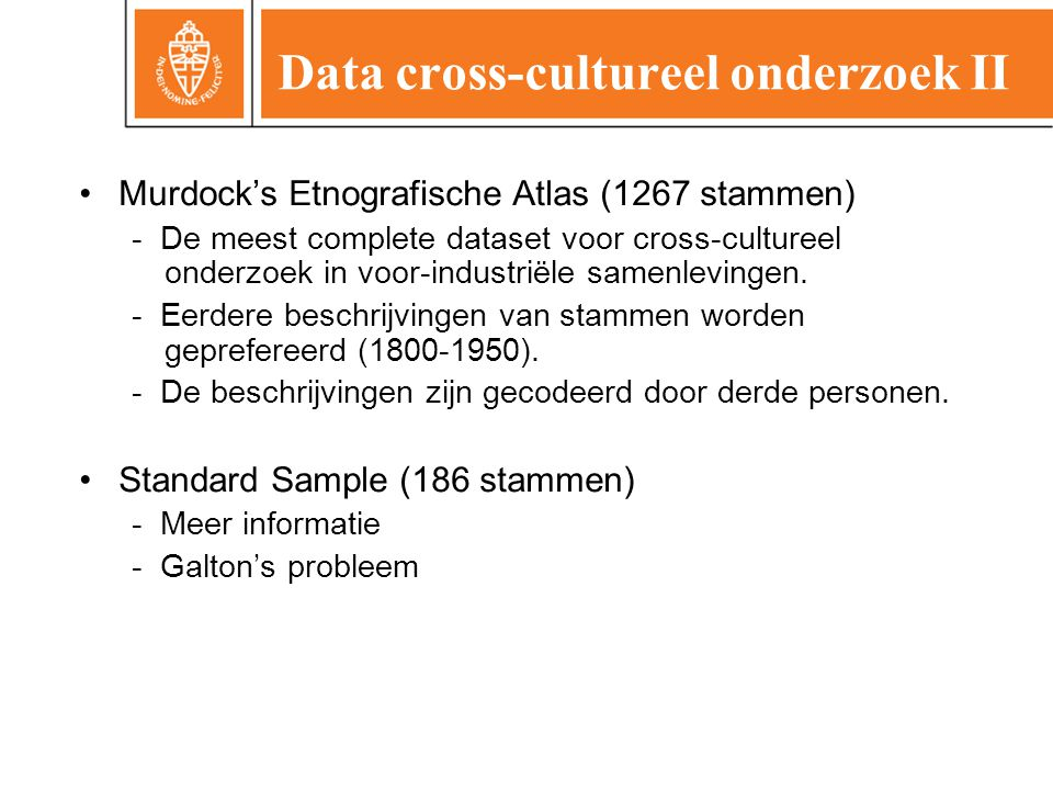 Data cross-cultureel onderzoek II