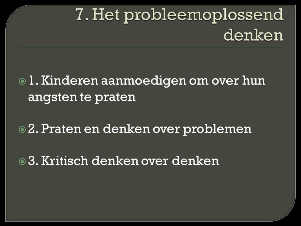 7. Het probleemoplossend denken