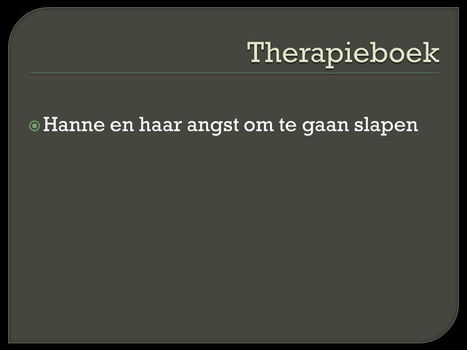 Therapieboek Hanne en haar angst om te gaan slapen