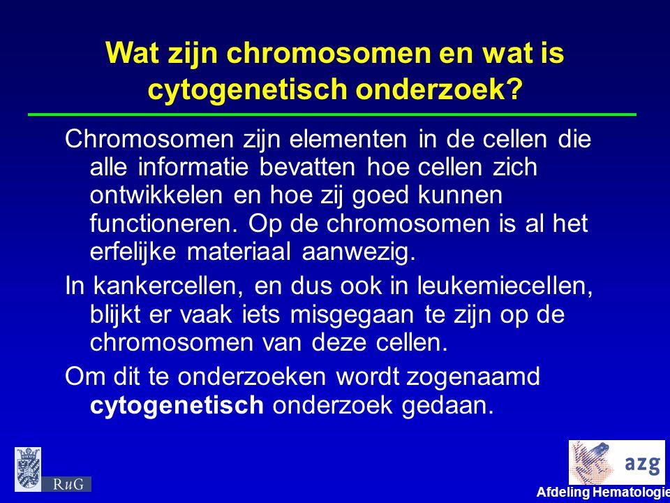 Wat zijn chromosomen en wat is cytogenetisch onderzoek