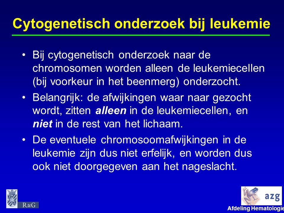 Cytogenetisch onderzoek bij leukemie