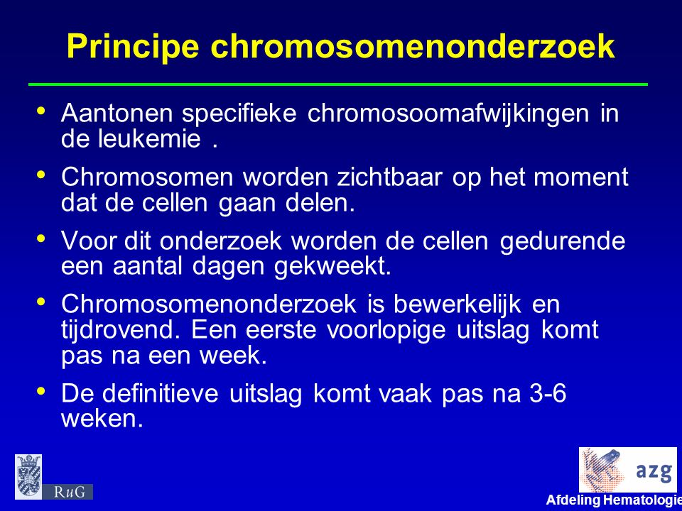 Principe chromosomenonderzoek