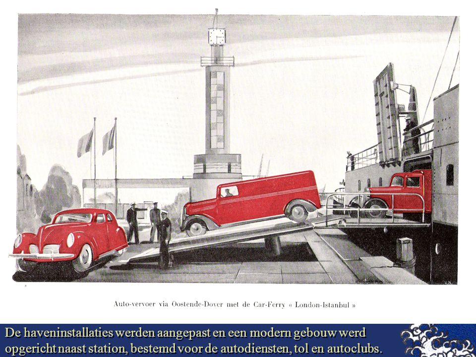 De haveninstallaties werden aangepast en een modern gebouw werd opgericht naast station, bestemd voor de autodiensten, tol en autoclubs.
