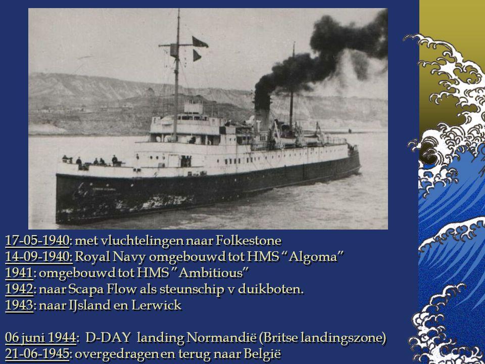 17-05-1940: met vluchtelingen naar Folkestone
