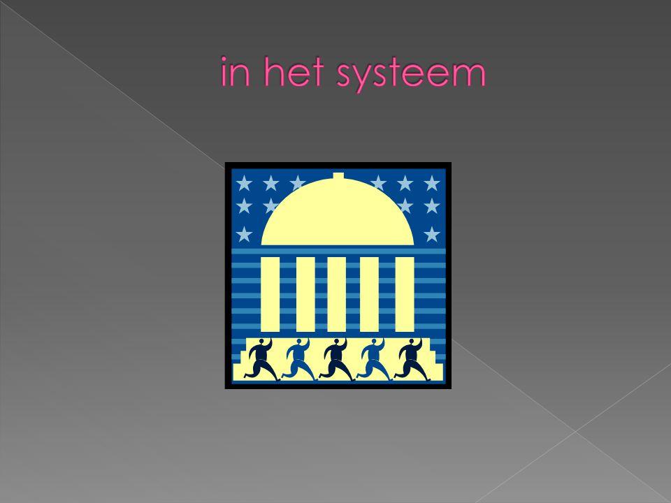 in het systeem