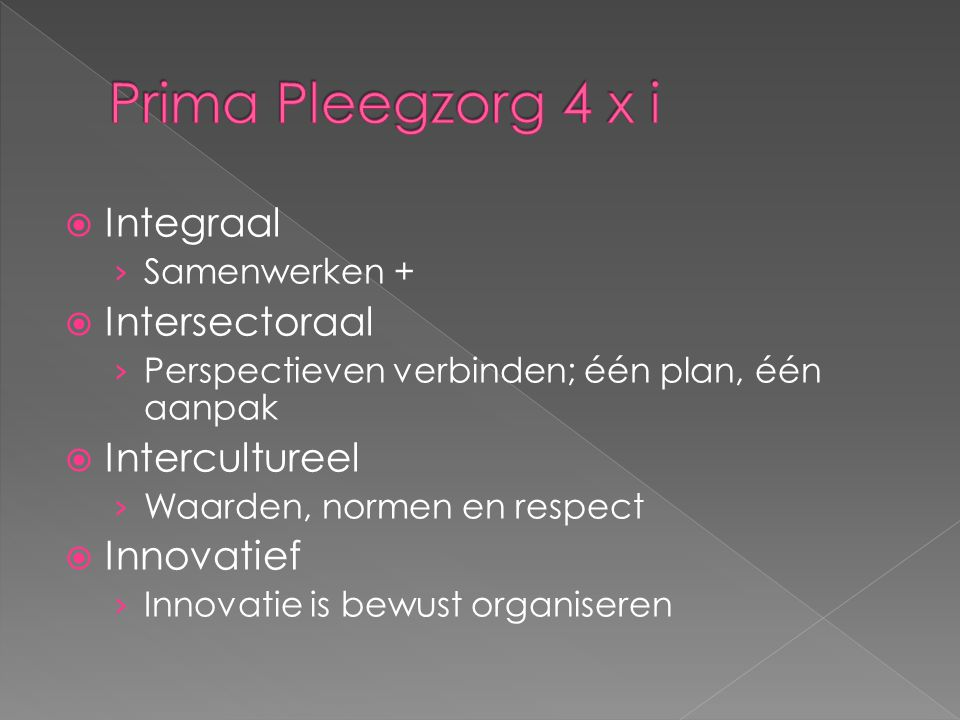 Prima Pleegzorg 4 x i Integraal Intersectoraal Intercultureel