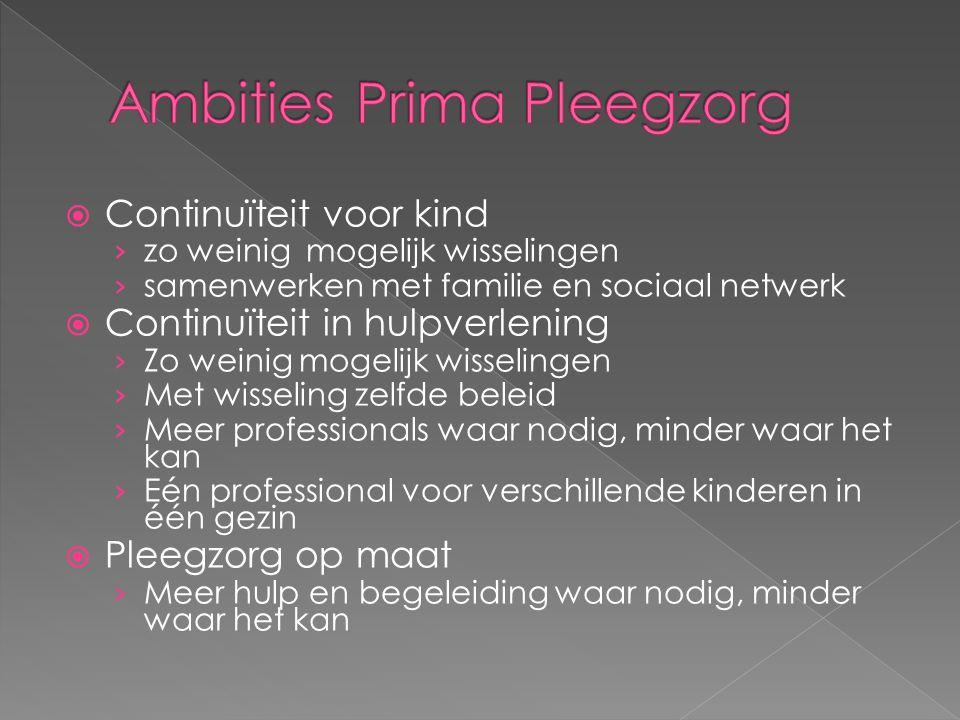 Ambities Prima Pleegzorg